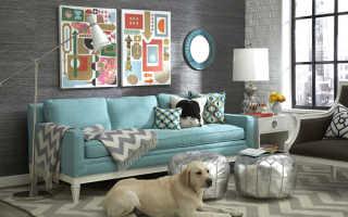 Как разместить картины над диваном