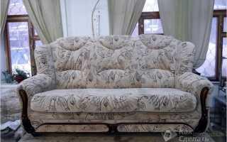 Как правильно обтянуть диван тканью пошагово