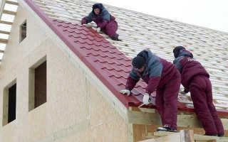 Как правильно положить металлочерепицу на двухскатную крышу
