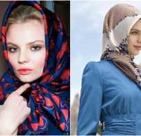 Как правильно завязать шарф на голову осенью