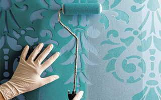 Как правильно нанести трафарет на стену