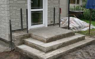 Как правильно сделать крыльцо из бетона