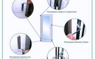 Как отрегулировать балконную пластиковую дверь прижим видео