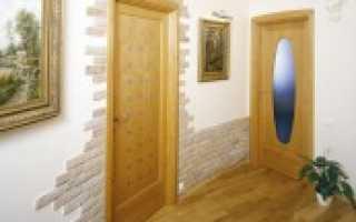 Как отделать проем двери декоративным камнем