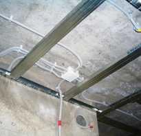 Как протянуть кабель по потолку
