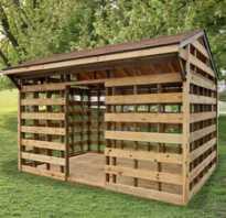 Как построить дровницу на даче своими руками