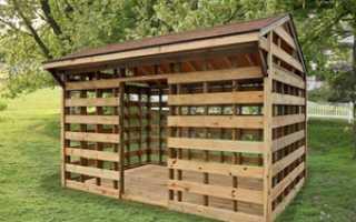 Как построить дровяник на даче своими руками