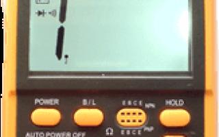 Как прозвонить тестером транзистор