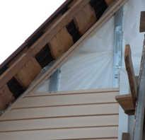 Как обшить сайдингом фронтон крыши