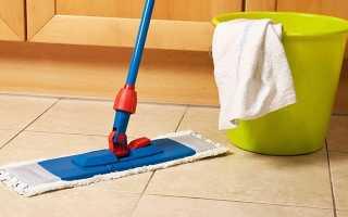 Как отмыть плитку на полу на кухне