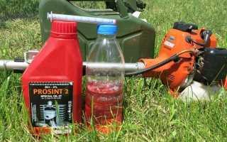 Как разводить бензин на триммер
