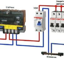Как правильно подключить узо и автомат схема