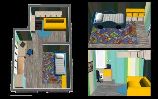 Как разместить мебель в детской комнате