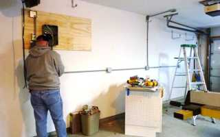 Как провести розетки в гараже
