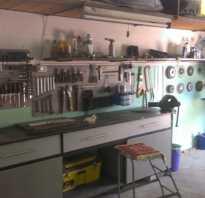 Как оформить верстак в гараже