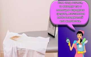 Как очистить след от утюга