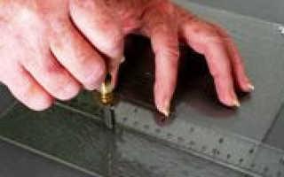 Как разрезать рифленое стекло