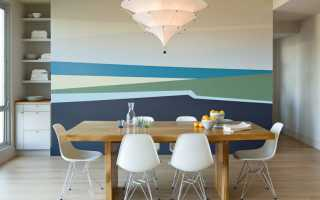 Как оформить стену на кухне около стола