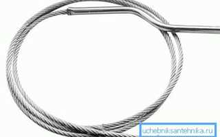 Как пользоваться сантехническим тросом при засоре труб