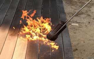Как обжечь дерево газовой горелкой