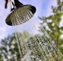 Как построить душ на улице