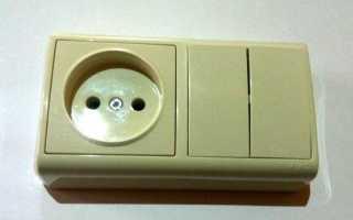 Как подключить розетку от двухклавишного выключателя схема