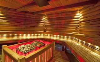 Как правильно провести свет в баню