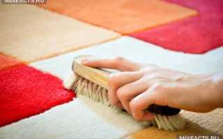 Как почистить палас в дом условиях