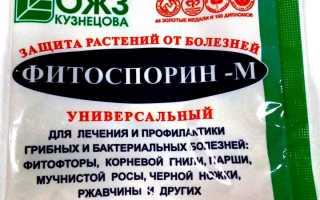 Как приготовить раствор фитоспорин