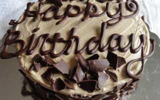 Как приготовить шоколад для надписи на торте