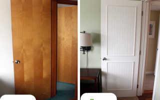 Как отделать старую дверь своими руками