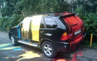 Как оттереть краску от машины