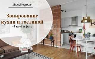 Как потолком разделить кухню и гостиную