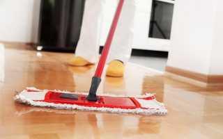 Как отмыть полы после ремонта от белого