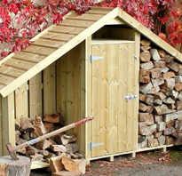 Как пристроить к сараю дровяник