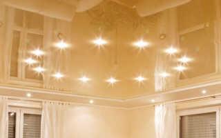 Как осветить натяжной потолок