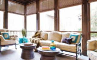 Как повесить шторы на террасе