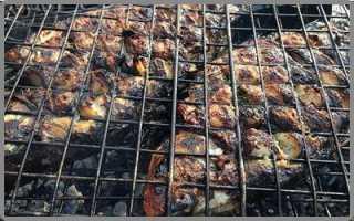 Как пожарить карпа на мангале