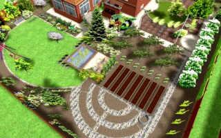 Как расположить сад и огород на участке