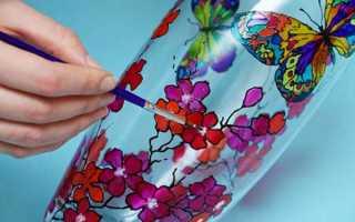 Как раскрасить витражными красками