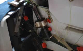 Как правильно заправить оверлок трехниточный