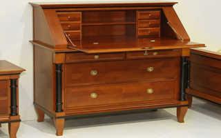 Как обновить старую лакированную мебель