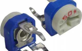 Как работает подстроечный резистор