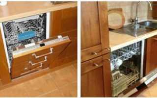 Как правильно установить встроенную посудомоечную машину