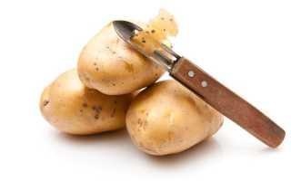 Как почистить картошку без ножа