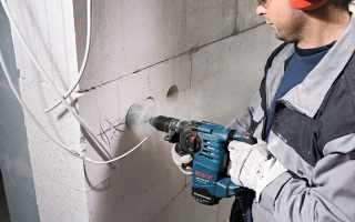 Как проштробить бетон под проводку