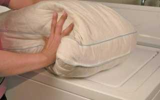 Как постирать подушку из пера в машинке