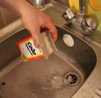 Как прочистить слив с помощью соды