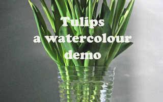 Как раскрасить вазу гуашью
