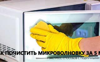 Как очистить от жира микроволновую печь